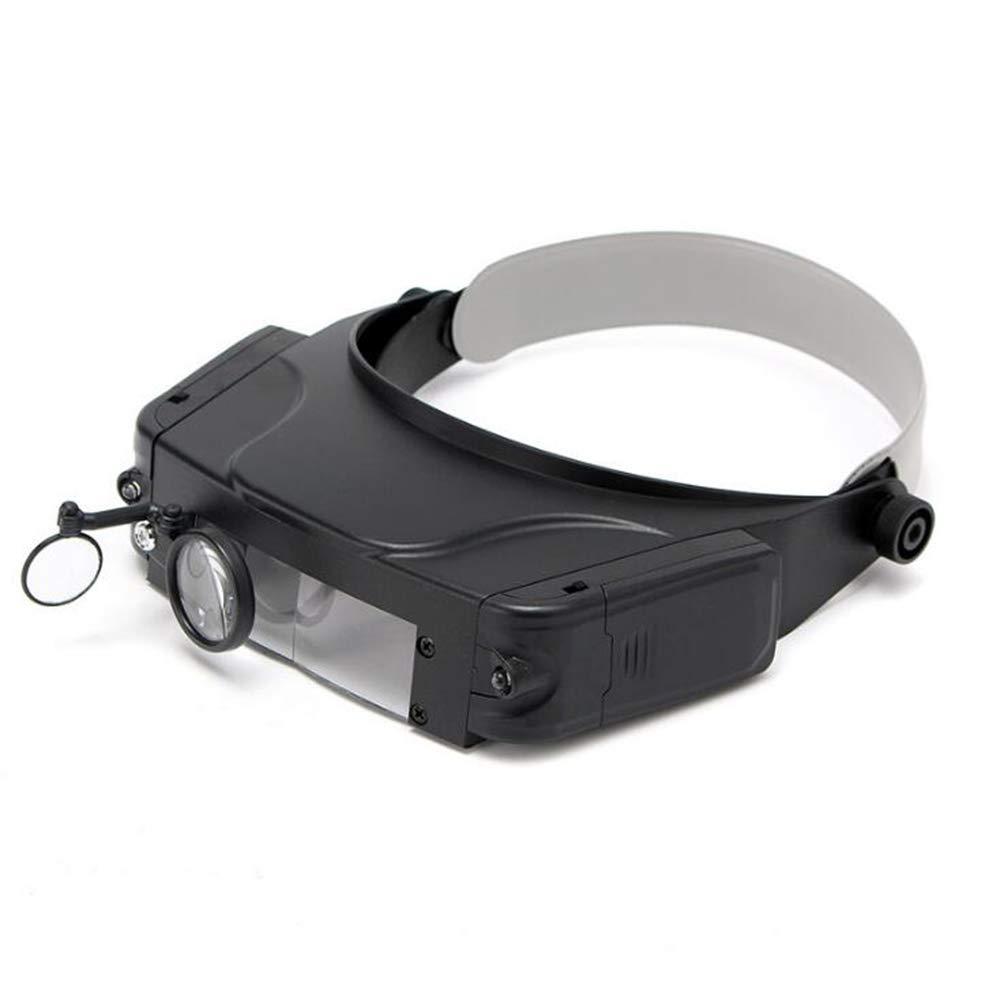 1.5X 3X 9.5X 11X Lupa De Reparación Con Tapa Diadema Lente Lupa Lupa Con Luz Led Seniors Regalo De Lectura Visualización: Amazon.es: Oficina y papelería
