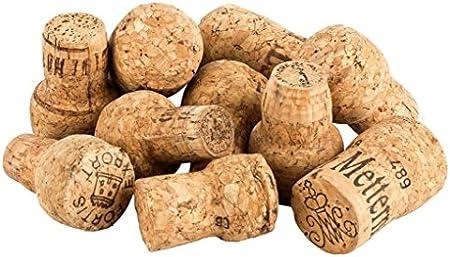 250 Unidades de corchos de Vino espumoso Usados para Manualidades, decoración y Pasatiempos/Tapones de Botella de Corcho Natural/corchos de Vino espumoso/Corcho