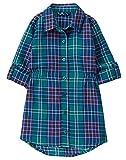 Gymboree Little Girls' Button Up - Playera de Tirantes para niña, Verde, 10