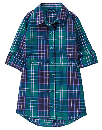 7 Up Green (Gymboree Little Girls' Button up Tunic Top, Green, 7)