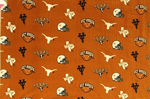 Texas Longhorns NCAA Football Anti-Pill Polar Fleece - Plush Fabric Polyester 13 Oz 58-60