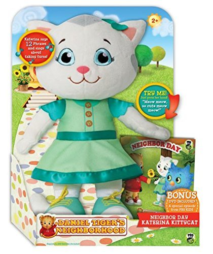 Daniel Tiger's Neighborhood Neighbor Day Talking Katerina Kittycat Plush with (Neighborhood Dvd)