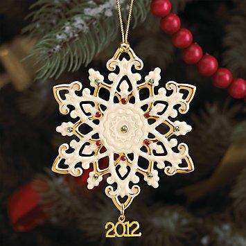 Snowflake Ornament China (Lenox 2012 China Snowflake Ornament)