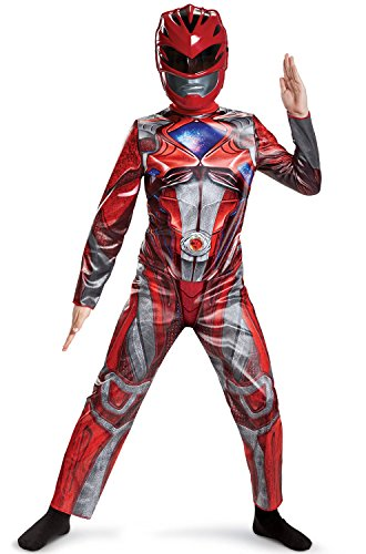 Power Rangers Costumes - Power Ranger Movie Classic Costume, Red, Small (4-6)