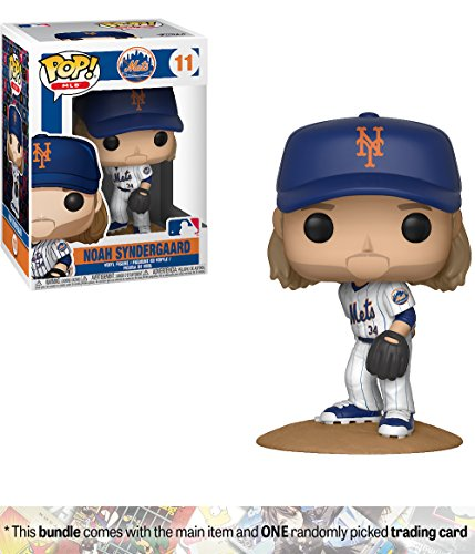 Mlb Phillies Player (Funko Noah Syndergaard [New York Mets]: x POP! MLB Vinyl Figure + 1 Official MLB Trading Card Bundle [#011/30233])