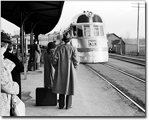The McMahan Photo Art Gallery & Archive Burlington Zephyr Railroad Train East Dubuque Illinois 30x40 Silver Halide Photo Print
