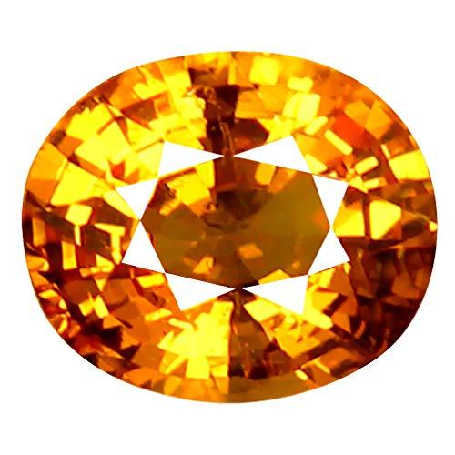 1.05 ct AAA+ Oval Shape (7 x 6 mm) Unheated/Untreated Fanta Orange Tanzanian Spessartine Garnet Natural Loose Gemstone