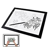 Novelty LED Lighting Pad Artist Drawing Board Line Art Creation Accessory USB Power Source for Animation Sketching Fashion Design Architecture Calligraphy Stenciling Diamond Painting Idea Gift etc.