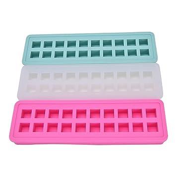 IDEA High Green - Molde cuadrado para hornear galletas dulces de seguridad, 20 unidades, color verde: Amazon.es: Hogar
