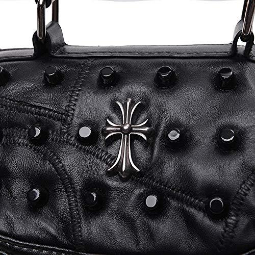 borsa Borsa da spalla in tracolla borchie a borsetta donna semplice Hjyi p8R5q4AnR