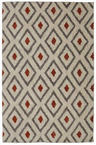 - Mohawk Home Laguna Tribal Diamond Woven Rug, 8'x10', Coral