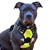 No Pull Dog Harness with Front Clip, Walking Pet Harness with 2 Metal