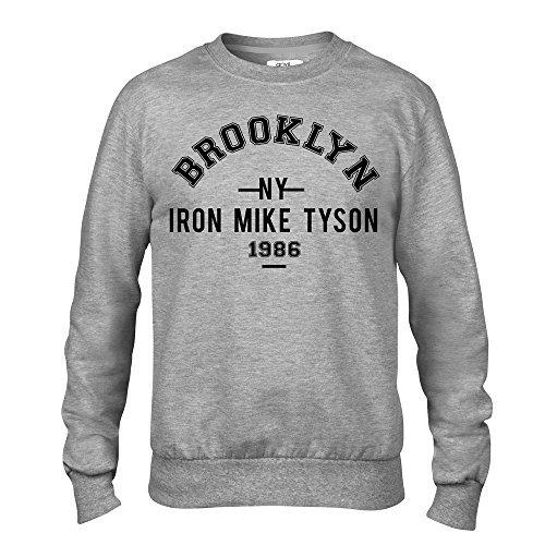Desconocido Iron Mike Tyson Brooklyn Boxeo Premium Hombre Gris Tripulante Sudadera: Amazon.es: Ropa y accesorios