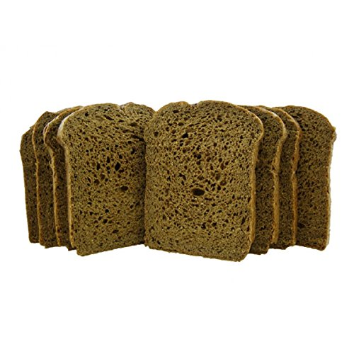 Low Carb Pumpernickel Bread (8 Slice Pack) - Fresh Baked - LC Foods - All Natural - No Sugar - High Protein - Diabetic Friendly - Keto Bread - Low Carb Bread