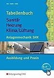 Tabellenbuch Sanitär, Heizung, Lüftung. Anlagentechnik SHK Ausbildung und Praxis (Lernmaterialien)
