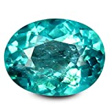 0.97 ct Oval Cut (7 x 6 mm) 100% Natural Paraiba Blue Color Apatite Gemstone