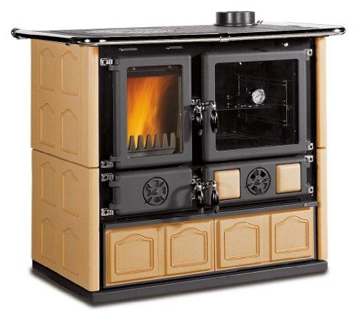 wood-cook-stove-la-nordica-rosa-maiolica-cappuccino-w-wood-burning-oven