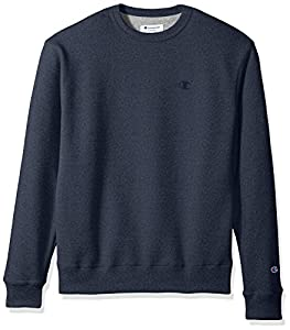 Champion Men's Powerblend Fleece Pullover Sweatshirt, Navy Heather, 2X Large