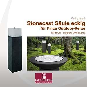 Finca Stone Cast columna by Engels para Outdoor Vela 20x 20x 70cm