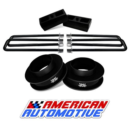 "American Automotive 1999-2007 Silverado Sierra Lift Kit 2WD 3"" Front Spring Spacers + 2"" Rear Blocks Made in USA Steel Road Fury TIG Welded"