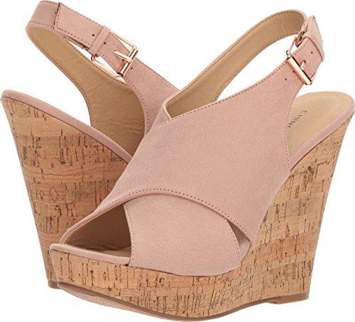 Cork Wedge Pink - Chinese Laundry Women's MYYA Wedge Sandal, Vintage Rose Suede, 8.5 M US