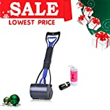 Uarter Removable Jaw Clamp Scooper Pets Pooper Scooper with LED Light
