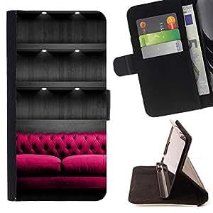 """For Sony Xperia Z5 (5.2 Inch) / Xperia Z5 Dual (Not for Z5 Premium 5.5 Inch),S-type Diseño de mobiliario Diseño de Interiores"""" - Dibujo PU billetera de cuero Funda Case Caso de la piel de la bolsa protectora"""