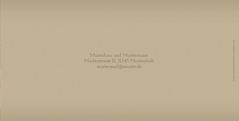 Kartenparadies Danksagung für Hochzeitsgeschenke Hochzeit Danke 3 Liebesmoment, Liebesmoment, Liebesmoment, hochwertige Danksagungskarte Hochzeitsglückwünsche inklusive Umschläge   20 Karten - (Format  215x105 mm) Farbe  Hellbraun B01N36GDCM | Modern Und Elegant  641591