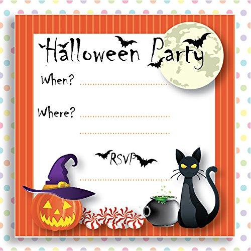 10 Tarjetas De Invitación Para Fiestas Para Niños Spooky