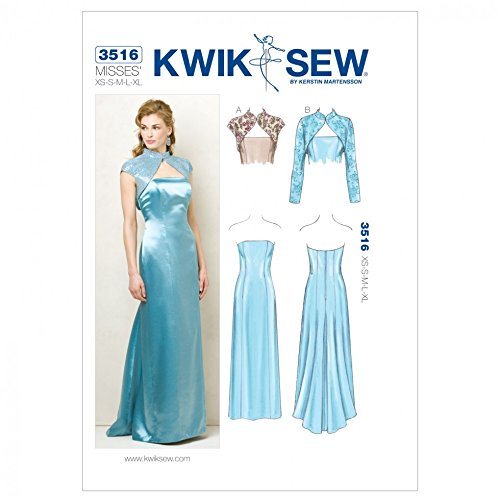 Kwik Sew Ladies Sewing Pattern 3516 Special Occasion Dress & Bolero Jacket