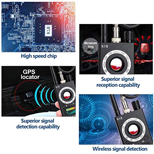 Anti Spy Detector, Hidden Camera Detector & RF Finder, Bug Detector, Wireless Hidden Camera Detector for GPS Tracking GSM Listening Device Finder
