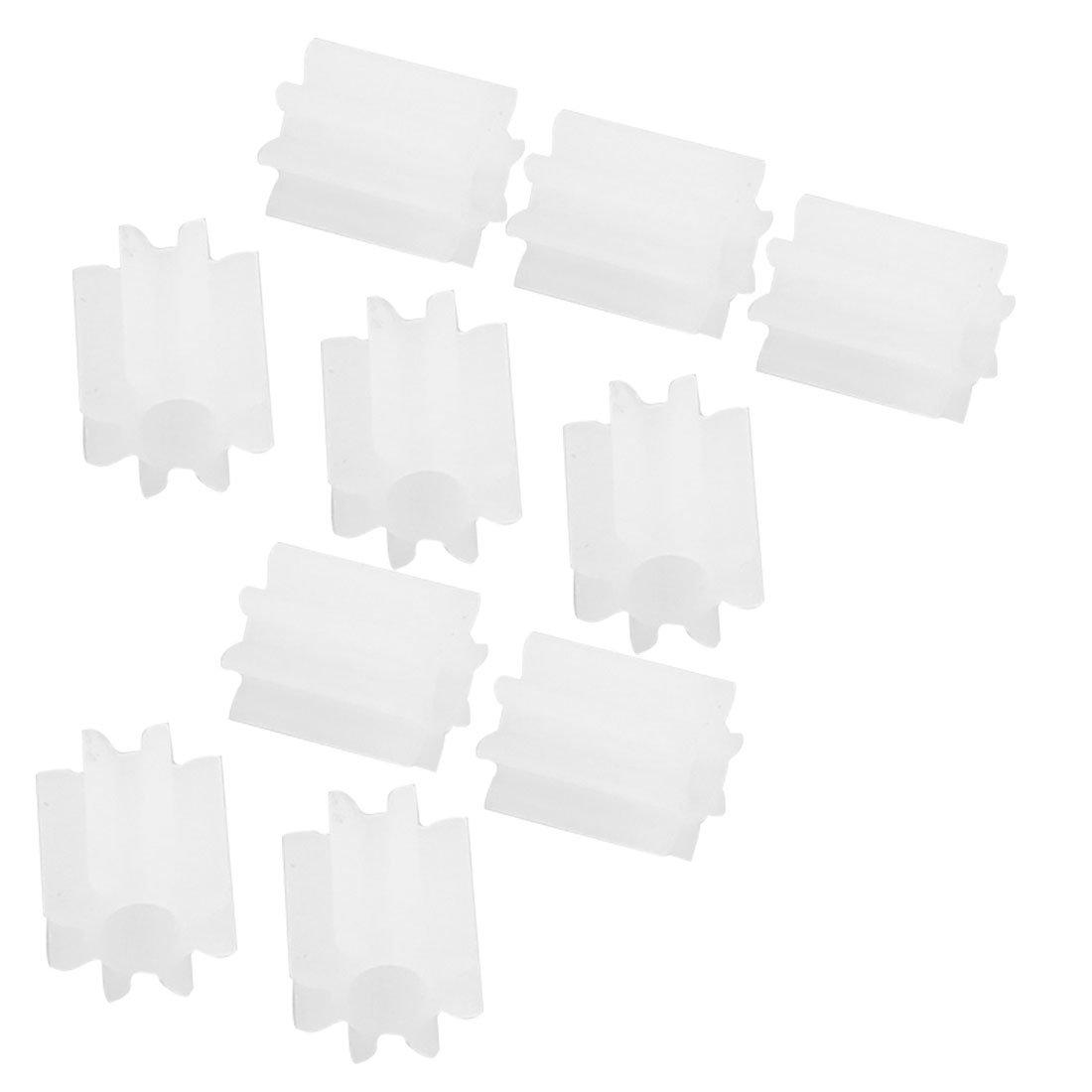10 Pezzi Meccanismi Ingranaggi In Plastica Bianca Diametro Albero 2Mm 8 Denti Per Modelli Radiocomandati