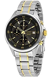 Seiko Men's SKS481 Quartz Chronograph Silver Stainless Steel Watch
