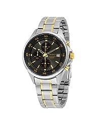 Seiko Men's Chronograph 100m Quartz Two Tone Stainless Steel Watch SKS481