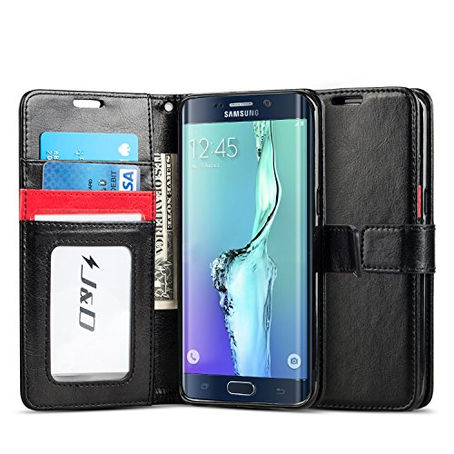 Wallet Case For Samsung Galaxy S6 edge (Black) - 2