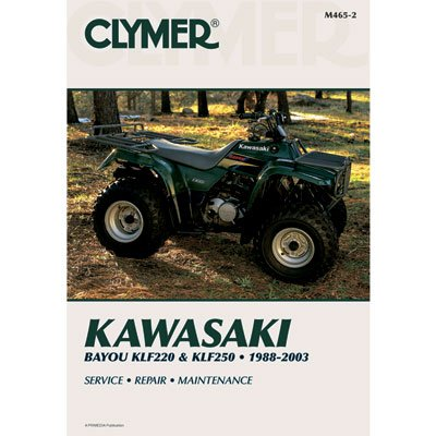Clymer Repair Manuals for Kawasaki BAYOU 220 1988-2002 (Atv Repair Manual Kawasaki)