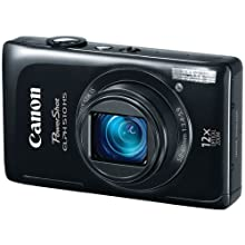 Canon PowerShot ELPH 510 HS 12.1 MP CMOS Digital Camera with Full HD Video and Ultra Wide Angle Lens (Black)