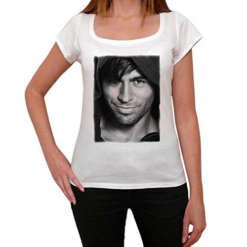 Enrique Iglesias Women's T-shirt picture celebrity - White, L