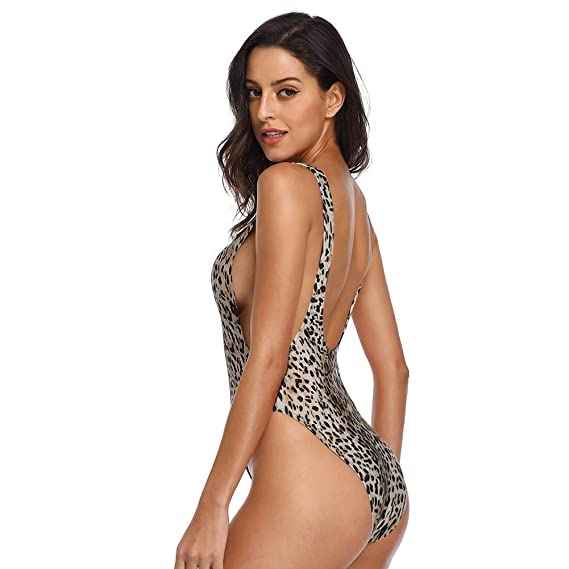 418fffa1081 Dixperfect 90s Trend One Piece Swimsuit Low Cut Sides Wide Straps High Legs  for Women at Amazon Women's Clothing store: