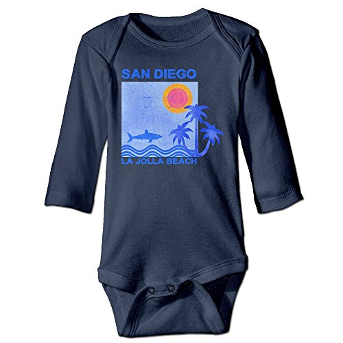 Yesgoodie Surf And Surfing In La Jolla Lakeshore San Diego Baby Bodysuits Long Sleeve For Unisex Boys Girls 100% Cotton 6 M