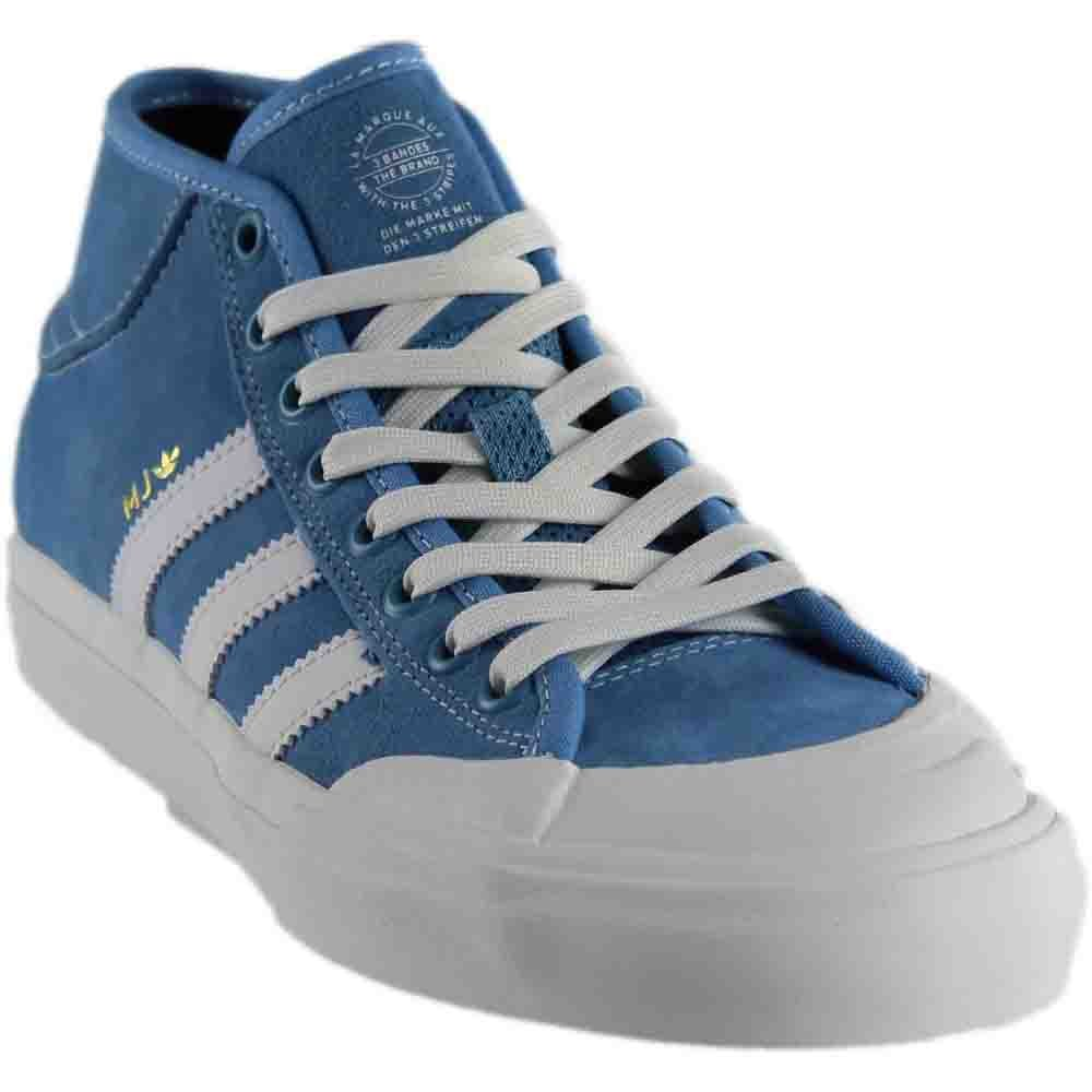 new concept 3540c b6c0f Galleon - Adidas Matchcourt Mid X MJ (Light Blue Neo White Gold Metallic)  Men s Skate Shoes-11