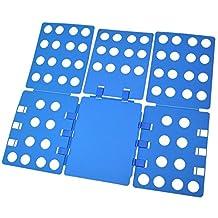 OFKP® Flip Fold, Clothes Folder - Adult Dress Pants Towels T-shirt Folder / Laundry Folder Board Organizer / Fast Folding Board, Blue