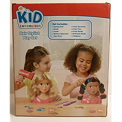 Kid Connection Beauty Salon - Black African American Styling Hair Doll: Toys & Games