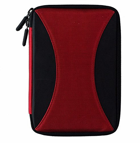 M-Edge Latitude Jacket Protective Case Cover for Kindle 4, Touch - Black / Red (Renewed)