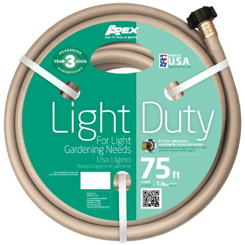 Light Duty Garden Hose (Apex 8400-75 Light Duty Garden Hose, 5/8-Inch by 75-Feet)