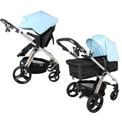 Mi Babiie MB150 Baby azul rayas cochecito de bebé y carrito: Amazon.es: Bebé