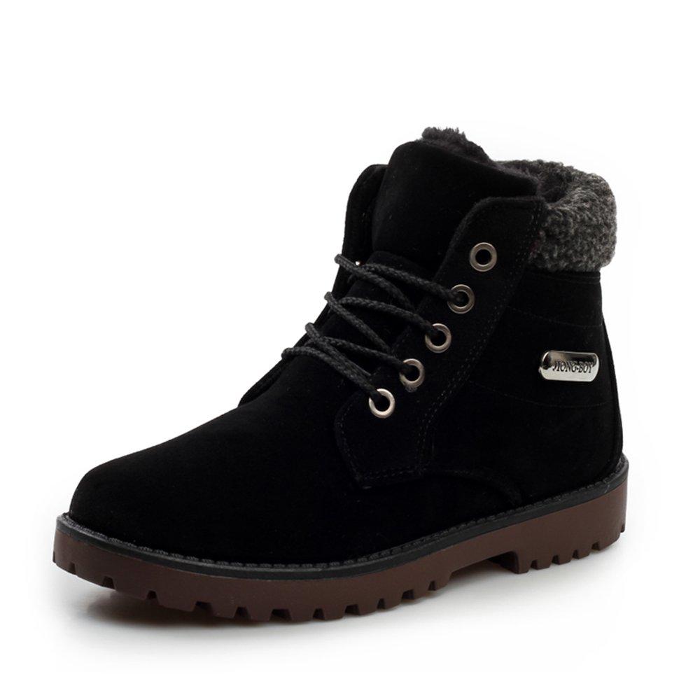 Herrenschuhe Feifei Herren Freizeitschuhe Winter Warm Warm Freizeit Schnee Stiefel 3 Farben (Farbe   01, größe   EU42 UK8.5 CN43)