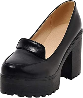 Platform Chunky Heels Shoes