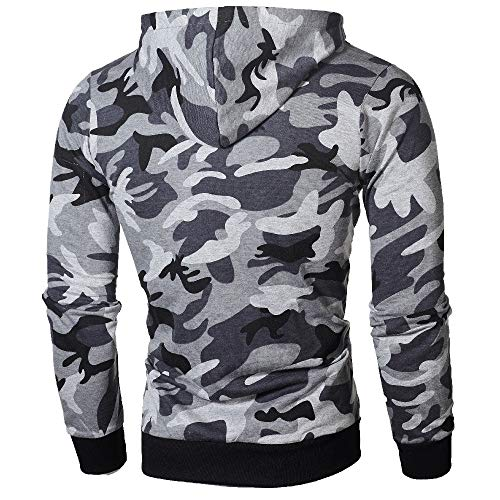 Capuche À Tops Et Fermeture Manteau Survêtements Zippée Aimee7 Homme Gris Camouflage Sweats wASBOXq6