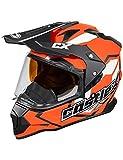 Castle X Mode Dual-Sport SV Team Snowmobile Helmet (3XL, Flo Orange)